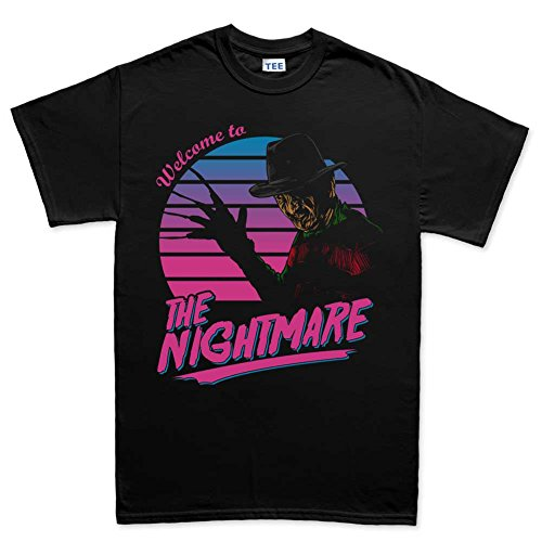 Customised_Perfection Mens Welcome To The Nightmare Halloween T Shirt (Tee)