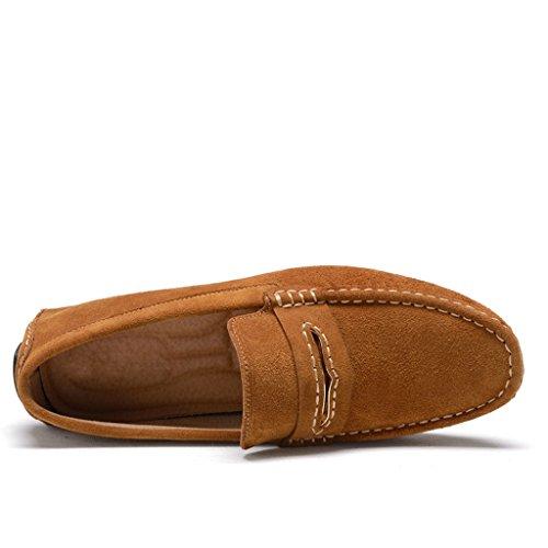 Señuelo De Marrón Zapatos Rayas Del Mocasines Mens Barco Herramientas Cuero Minitoo aUXq0t