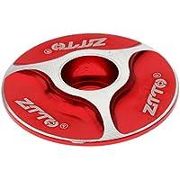 Gazechimp Tapa de Juego de Dirección Tallo Sin Rosca Estilo De Moda Fabricado de Aleación de Aluminio Bicicleta - rojo