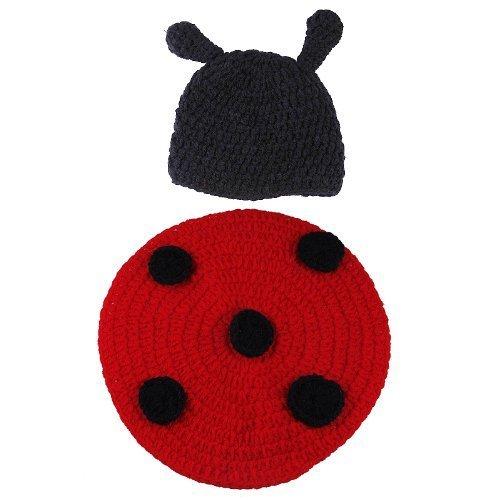 Imagen de la vogue ropa disfraz fotografía proposición sombrero y pantalones para bebé niños 2 4 meses forma mariquita