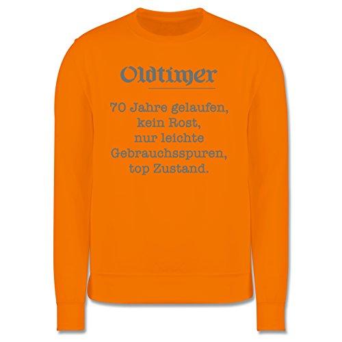 Geburtstag - 70 Jahre Oldtimer Fun Geschenk - Herren Premium Pullover Orange
