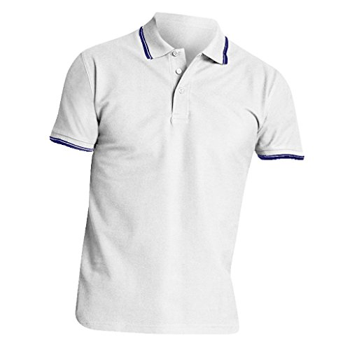 SOLS Herren Practice Pique Polo-Shirt, Kurzarm Weiß/Marineblau