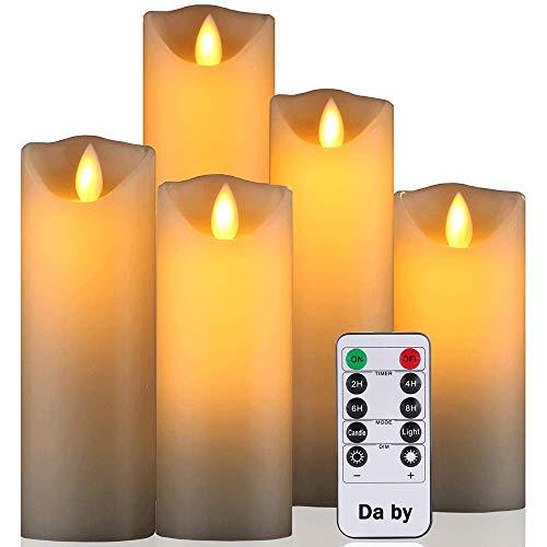 Daby's LED Candle, 5 Velas decorativas 14cm, 15cm