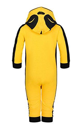 OnePiece Unisex Baby Spieler Lazy, Gelb (Yellow), 92 (Herstellergröße: 12/18) - 2