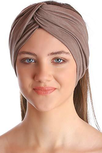 Deresina Headwear Klassisch Kreuz Stirnband für Damen - Mink