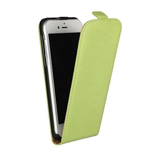 """MOONCASE iPhone 7 Étui, Haut et Bas Ouvert Housse en PU Cuir à rabat Coque de Protection Folio PC Case avec Fermeture Magnétique pour iPhone 7 (4.7"""") Rouge Vert"""