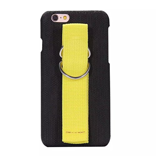 iPhone Case Cover iPhone 6 6S Mix and Match-Farben-Fall-Abdeckung mit Handschlaufe Vollschutzhülle für iPhone 6 6S ( Color : Green , Size : IPhone 6 6S ) Black