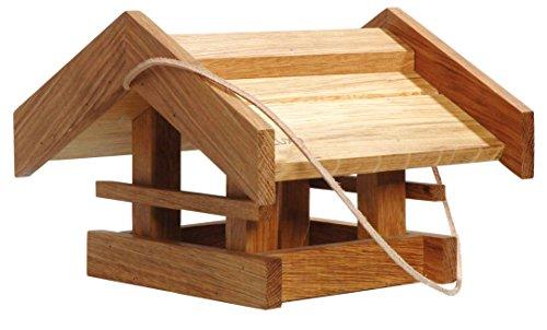 Luxus-Vogelhaus De lujo Pajarera de madera Roble engrasada con cordón, Comedero Para...