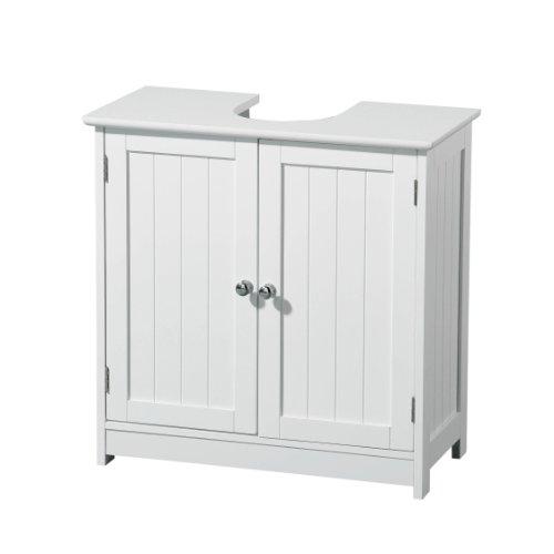 Premier housewares 2402060 armadietto sotto lavabo, in legno, bianco
