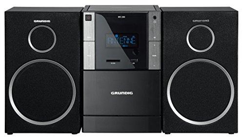 Grundig GLR5150 MS 240 Design Micro Anlage (RDS Tuner, MP3 Wiedergabe, USB, SD Karte)