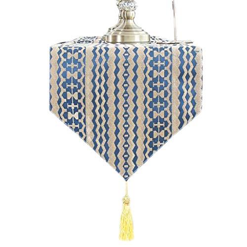 Unbekannt Kräuselungs-Tabellen-Flaggen-Satin-Mode-einfaches nordisches Kaffee-Bett-Hochzeits-Hotel-Bankett-Dekoration 2 Farben 30cm * 160cm MUMUJIN (Color : Ripple map, Size : 210cm) -