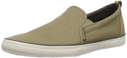 JACK & JONES JJBrado Canvas Loafer Elmwood, Herren Sneakers, Grün (Elmwood), 40 EU (Canvas Loafer)