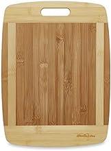 Tabla de Cortar de Bambú de Kitchen Active. Las Tablas de Cortar Prémium de Dambú Natural Son Las Mejores Para Cortar Queso Brie, Vegetales, Pastelería, Limones, Sandías, Barras de Pan y Más. Con Un Asa de Madera de Gran Tamaño