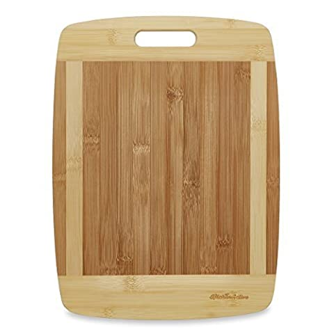 Kitchen Active Bamboo Cutting Board. Premium Natural Bamboo Boards Are Best For Chopping Brie Cheese, Vegetable, Pastry Lemon, Watermelon, French Bread & More. 15