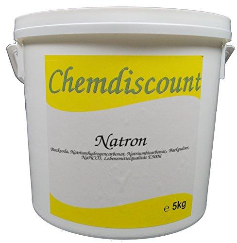 5kg Natron in Lebensmittelqualität E500ii (Backsoda, Natriumhydrogencarbonat, Natriumbicarbonat) NaHCO3 N