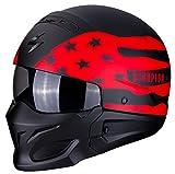Scorpion 82-281-24-06 EXO-Combat Rookie Matt Black-Red XL