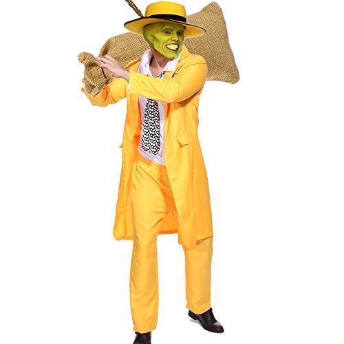 Gr.M The Mask Karneval Fasching Verkleidung Herrenkostuem Halloween Herren Kostuem Jim (Zoot Kostüme)
