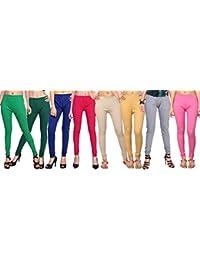Comix Cotton Hosiery Fabric Women Leggings Combo Set of 8(AGSPL-3156-LG-CMB8)