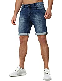 Sweat Jeans Denim Jogger Shorts Sommer Kurze Hose Sublevel 98-86 dunkelblau