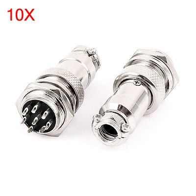 Socket Wire (ILS - 10 Sets GX16-8 16mm 8 Pin Male & Female Wire Panel Connector Circular Aviation Connector Socket Plug)