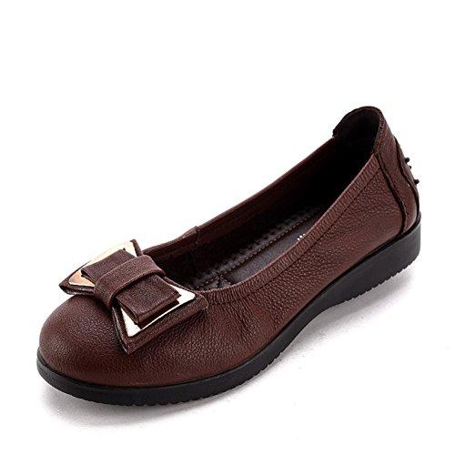 Année-lumière shoes/Chaussures plates femme/Au milieu en bas doux et souliers pour dames âgées vieux/Chaussures de maman A