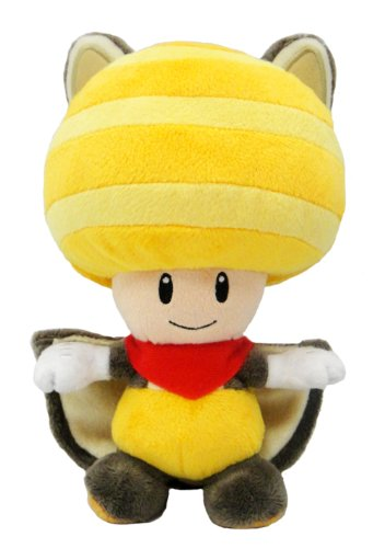 "Toad Squirrel - Musasabi Yellow Kinopio - 20cm 8"""