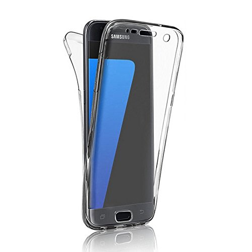 Minto Crystal TPU Full Body 360 ° Hülle iPhone 7 Plus Silikon Case Cover Etui Tasche - transparent Komplett Schutzhülle Transparent