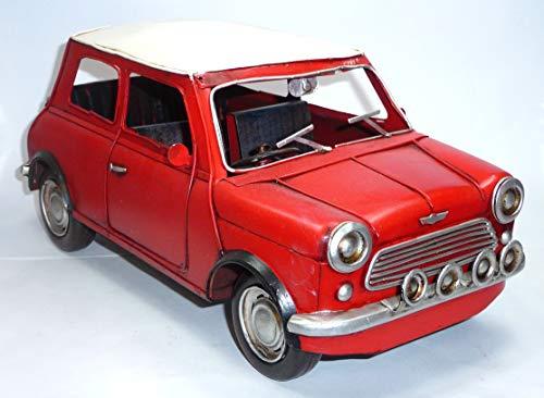 generisch Rarität: 1960 Mini Cooper rot handgefertigtes Modell ca. 1:12 = 31 cm TINPLATE (Im Modell Cooper Maßstab Mini)