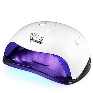 54W UV LED Nail Lamp Dryer for Gel Polish, GUSTALA Gel Nail Lamps with 36 Dual Light Source LEDs, 4 Timer Setting Nail Light Fingernail Polish Art Professional
