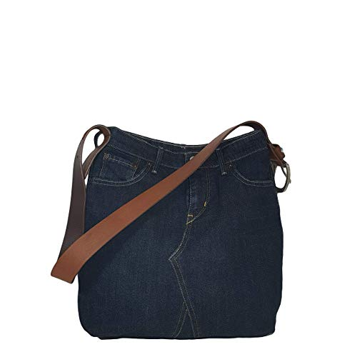 Denimtasche, Lässige Schultertasche, Hobo Bag, Große Denim Tasche, Blaue Umhängetasche, Geschenk für Mama, Damen Jeans Tasche, Jeanstasche, Handtasche, Tragetasche -