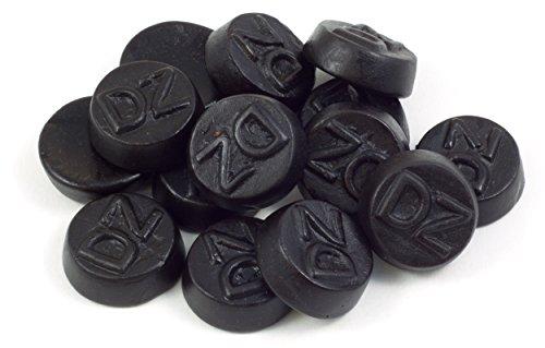 Doppelt gesalzene Lakritz Drops in einer praktischen AromaFrischeNaschbox 1kg - Deine Naschbox. (Drop Holländischen Lakritz)