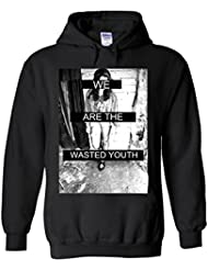 We Are The Wasted Youth Novelty White Femme Homme Men Women Unisex Sweat à Capuche Hooded Sweatshirt Hoodie