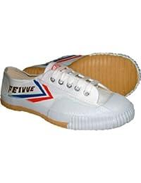 Feiyue Clásicos- Zapatos blancos de tela para kung fu y parkour