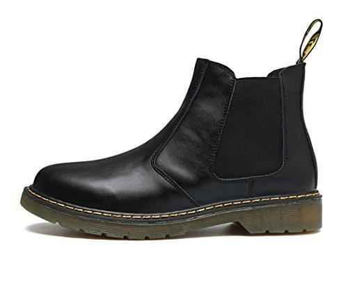 Honeystore Unisex-Erwachsene Bootsschuhe Derby Stiefeletten Kurzschaft Stiefel Winter Boots für Herren Damen Schwarz 39 CN