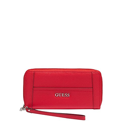 GUESS DELANEY SLG LARGE ZIP AROUND VY453546 CNY RED
