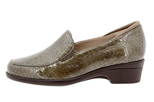 Chaussure femme confort en cuir Piesanto 9610 moccasin casual confortables amples Taupe