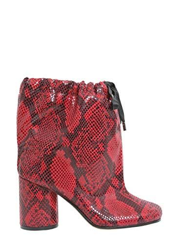 Maison Margiela Damen S39wu0094s48432961 Rot Polyester Stiefeletten