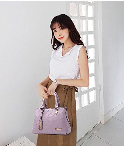 Ruiren Shopping Soft Bag Portable Umhängetasche Frauen Messenger Bags Frauen Handtasche Schultertasche Taro Lila