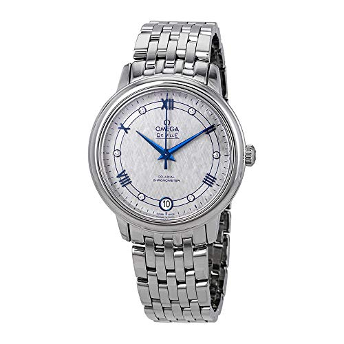 Omega De Ville Prestige Co-Axial Automatic Diamond Grey Dial 424.10.33.20.56.002 - Orologio da donna