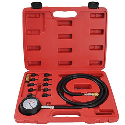 CCLIFE Öldruckmesser Öldrucktester Öldruckprüfer Öl-Meßgerät Öl Messgerät Prüfgerät Set