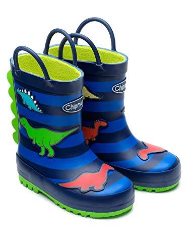 Chipmunks Boys/Girls Kids Infants/Junior Wellies Wellington Boots - Jurassic Dinosaur