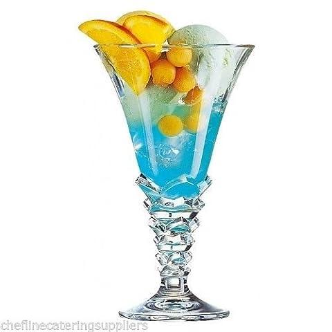 6X palmier (Pâtisserie) Coupe à dessert/milkshake Verre 354,4gram Cocktail de fruits, à glace, glace