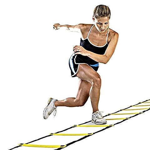 HanSemay 5M Speed Ladder Agility Ladder 9-Rung for Football Speed