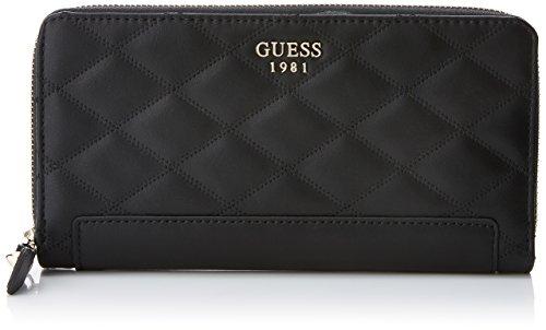 Guess Damen Slg Wallet Geldbörse, Schwarz (Black), 2x10x20 centimeters (Damen Zip-around Zehn Wallet)