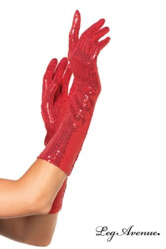 Leg Avenue 2116 - Ellenbogenlange Handschuhe, (Kostüme Flapper Adult Fashion (rot))