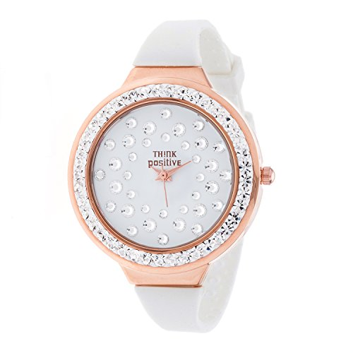 ladies-think-positiver-model-se-w116r-star-dust-tunnel-medium-steel-strap-silicone-color-white
