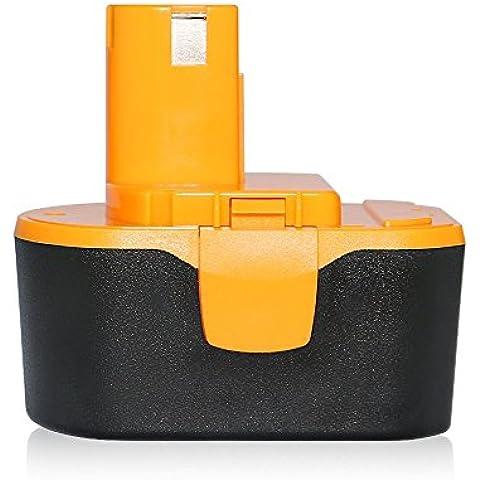Dtk® Accessori per utensili elettrici Pacchi batterie Batteria per Ryobi 130224010 130224011 130281002 1314702 1400144 1400655 1400656 1400671 4400011 3.0Ah 14.4V Ni-Cd