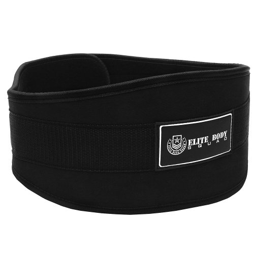 united states free delivery best value Elite Body Squad Weight Lifting Belt Pro Quality Neoprene Back Support Belt  With Speed Fit Velcro Closure And Stainless Steel Hook And Loop Design - ...