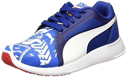 Puma Unisex-Kinder Superman ST Trainer Evo Street Jr Low-Top, Blau royal White 01, 39 EU