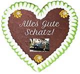 Bavariashop Lebkuchenherz nach Wunsch 22 cm x 23 cm Farbe grün
